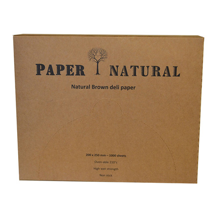 Natural Brown Deli Paper Commercial Kitchen Supplies
